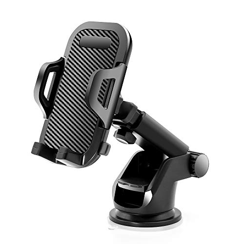 Sonkir Car Phone Mount, Dashboard & Windshield Cell Phone Holder Stand with One-Touch Design 360° Rotation for iPhone, Galaxy, Google Nexus, LG, Huawei and More