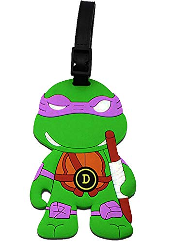 Teenage Mutant Ninja Turtles Luggage Tag Baggage Tags Id Name Card Suitcase Travel Tag (Purple - Donatello)