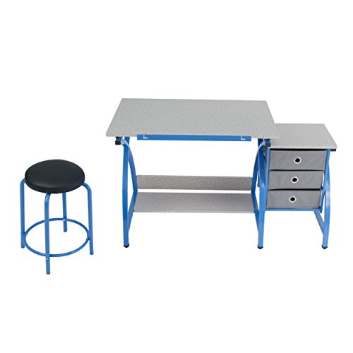 Comet Center with Stool in Blue / Spatter Gray by SD STUDIO DESIGNS (Image #2)