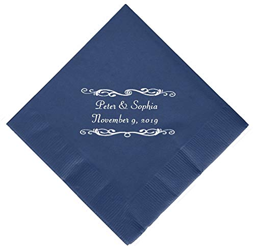 Personalized Cocktail, Beverage or Dessert Wedding Napkins (300) by Favor Supply Store (Image #5)