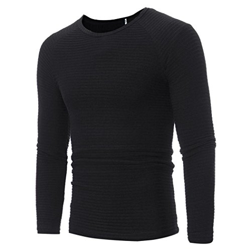 Clearancee ! baskuwish New Man's Autumn Winter Casual V-Neck Men's Slim Sweaters Tops Blouse (2XL, Black)