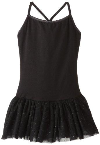 Capezio Big Girls' Camisole Tutu Dress, Black, Large/12-14