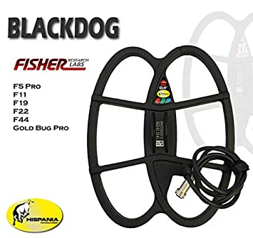 Hispania Technologies Plato Black Dog para Detector de Metales Fisher F5, F11, F19, F22, F44, Gold Bug y Gold Bug Pro: Amazon.es: Jardín