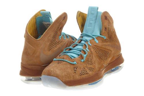 Nike Mens Lebron X Ext Qs Scarpe Da Basket In Nocciola Nocciola Nocciola / Viola