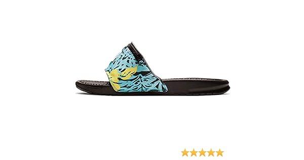 Chanclas Nike Benassi JDI Fanny Pack Print Turquesa 41: Amazon.es: Zapatos y complementos