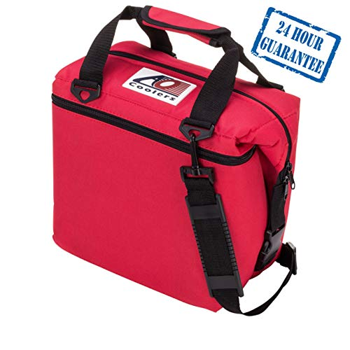 (AO Coolers Original Soft Cooler with High-Density Insulation, Red, 24-Can)