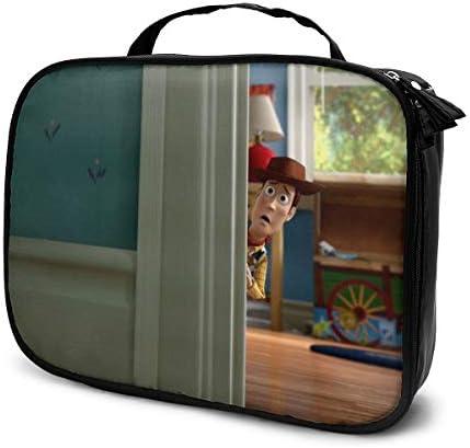 ウッディの壁紙10 化粧ポーチ 多機能 大容量 コンパクト収納 旅行で持ち運びが簡単 人気 おしゃれ メイクポーチ