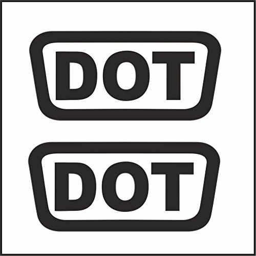 "DOT Helmet (2 pack) Vinyl Decal - size: 1.5 X .75"", color: BLACK - Windows, Walls, Bumpers, Laptop, Lockers, etc."