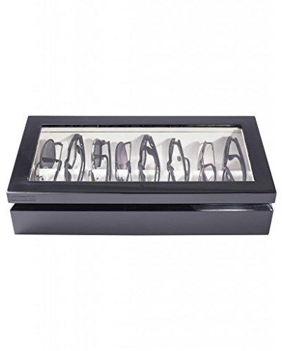 (OYOBox Maxi Luxury Eyewear Organizer, Lacquered Wood Box for Glasses + Sunglasses, Glossy)