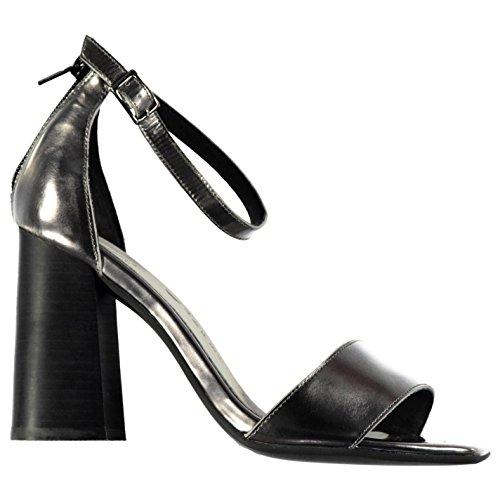 Jeffrey Campbell Manor Talon Haut Chaussures Sandales Femme en étain Fashion Chaussures