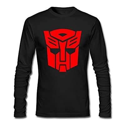 Custom Black Transformers Autobot Logo Men's Long Sleeve T-Shirt