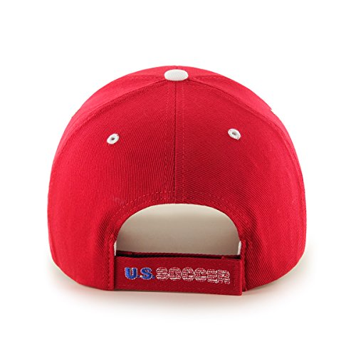 World Cup Soccer United States Frost MVP Adjustable Hat, One Size, Red