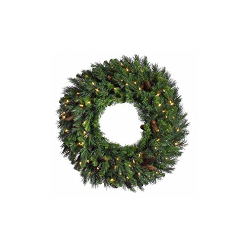 Vickerman 48'' Pre-Lit Cheyenne Pine Artifical Wreath - Warm White LED Lights by Vickerman (Image #1)