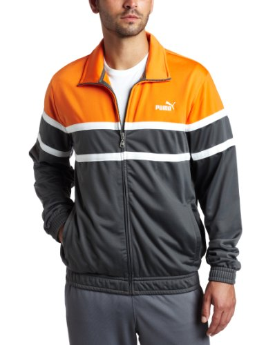 PUMA Men's Agile Track Jacket, Golden Poppy, - Track Mens Agile