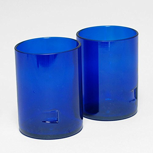 Skyy Vodka Short Glass Low Ball Tumblers - Custom Liquor Bottle Bar Glasses (SET Of 4)