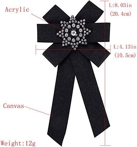 Negro Nowbetter Broche Elegante con Lazo 10.5cm 20.4