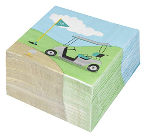 Cocktail Napkins - 150-Pack Luncheon Napkins, Disposable Paper Napkins Golf Party Supplies for Kids Birthdays or Retirement Parties, 2-Ply, Unfolded 13 x 13 Inches, Folded 6.5 x 6.5 Inches by Blue Panda (Image #2)