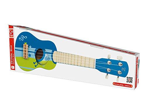 41BooK28jcL - Hape Kid's Wooden Toy Ukulele in Blue