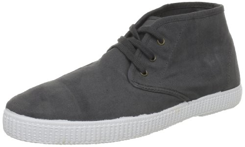 Victoria Kvinna Safari Lona Tintada Canvas Mid-top Spets-up Anthracita