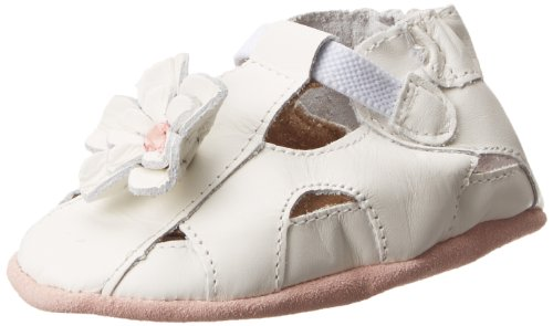 (Robeez Pretty Pansy Soft Sole Sandal (Infant),White,6-12 Months M US Infant)