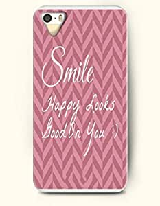 iPhone 5 5S Case OOFIT Phone Hard Case ** NEW ** Case with Design Smile Happy Looks - Stripes - Case for Apple iPhone 5/5s