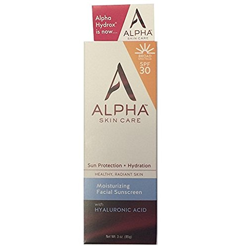 Alpha Skin Care  Moisturizing Facial Sunscreen SPF 30, 3 oz.
