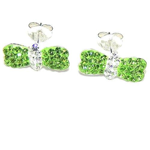 Butterfly Peridot Earrings - Pro Jewelry .925 Sterling Silver