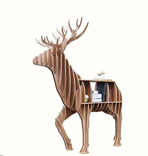 ASL Kreatives Tier Modell Haus Regal Möbel Massivholz Regale, Wohnzimmer Boden Lagerregale Wohnzimmer Dekorationen Schlafzimmer Studie Bücherregal Rahmen Qualität ( größe : 136149.5CM )
