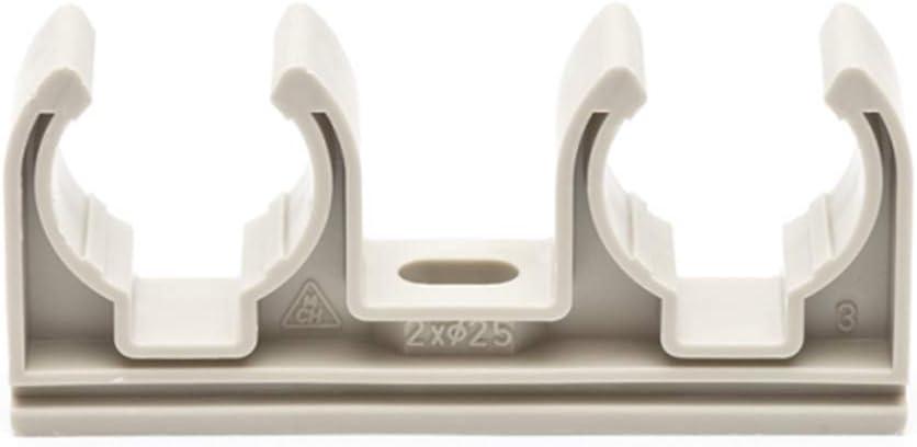50x Doppel Rohrclip 16mm Rohrklemme Rohrhalter Clipser Rohrschelle Klemmschelle