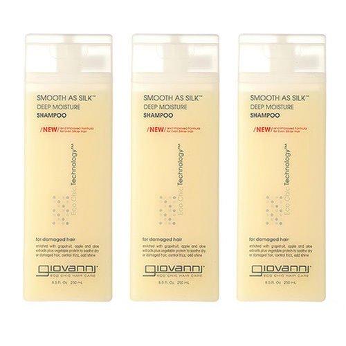 3 PCS Giovanni Smooth As Silk Deep Moisture Shampoo Damaged Hair 250ml by Giovanni