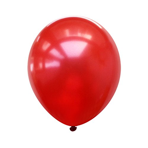 Neo LOONS 5 Pearl Ruby Red Premium Latex Balloons -- Great for Kids , Adult Birthdays, Weddings , Receptions, Baby Showers, Water Fights, or Any Celebration, Pack of 100