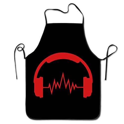 [Red Music Headphones Kitchen Aprons For Women Men] (Toddler Gardener Costume)