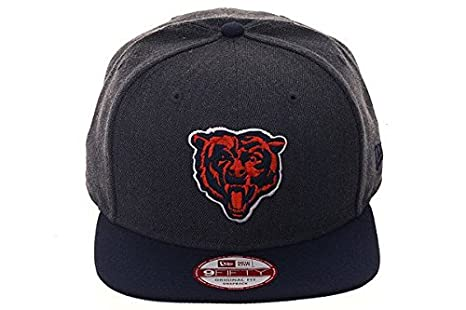 7c64f54e0af Image Unavailable. Image not available for. Color  NewEra NFL Chicago Bears  2 Tone Heather Graphite 9fifty Snapback Cap ...