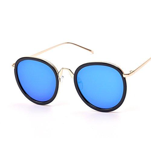 Popular Tendencia Sol De Unisex Sol Gafas Red De Sombra Espejo De Nuevas Retro Blue Gafas Moda InwTxqqvC