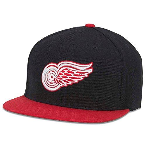NHL American Needle 400 Series Flat Brim Cap (Adjustable, Detroit Red Wings)