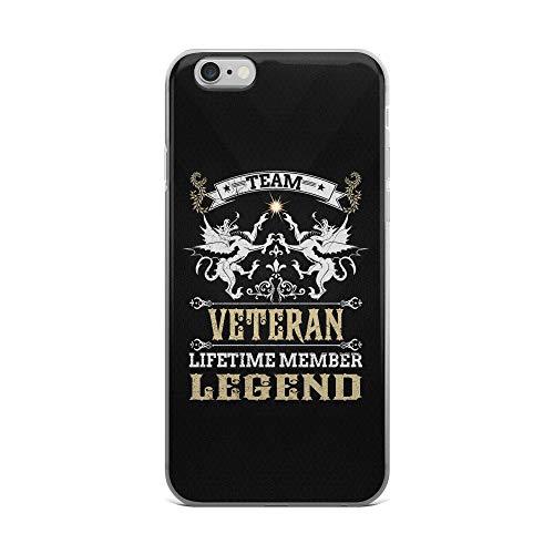 iPhone 6 Plus/6s Plus Pure Clear Case Cases Cover Team Veteran - Lifetime Member Legend Durable Back Cover