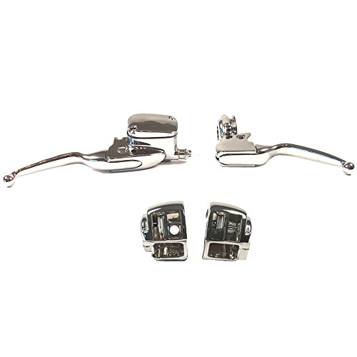Hill Country Customs Chrome Handlebar Control kit for 1996-2007 Harley-Davidson Road King models without Cruise Control - HC-HCB122-1007 2007 Harley Davidson Models