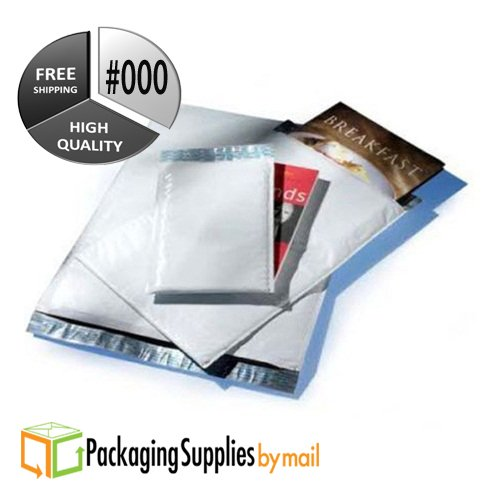 25pcs Poly Bubble Mailers Shipping Mailing Envelopes Bags (4'' x 8'')