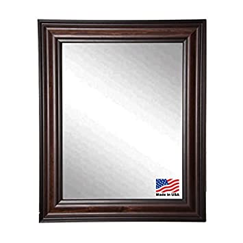 American Made Rayne Harvest Walnut Wall Mirror, 20.5 x 24.5