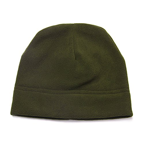 Army Fleece (Opromo Men's Fleece Hat Lightweight Soft Warm Winter Beanie Skull Cap-Army Green)