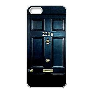 JIANADA Sherlock Holmes Door 221B Cell Phone Case for Iphone 5s