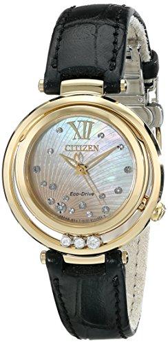 Citizen Eco-Drive Women's EM0322-02Y Citizen L Sunrise Analog Display Black Watch