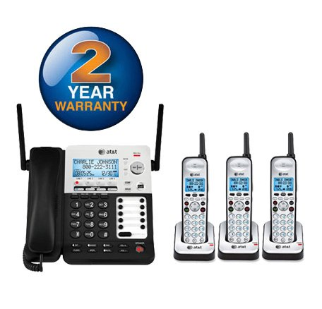 AT&T SB67138 + (2) SB67108 4 Handset Corded / Cordless Phone Bundle (4 Line)