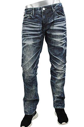 Jordan Craig Men's Raphael Ghost Wash Jeans JE2478 (32x32) by Jordan Craig
