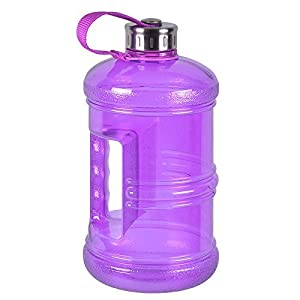 2.3 Liter BPA-Free Water Bottle with Stainless Steel Cap - Purple