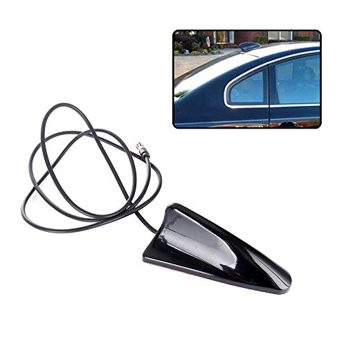 cciyu Auto Car Shark Fin Universal Roof FM/AM Aerial Black Antenna Radio Signal Replacement fit for Acura Dodge