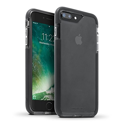 BodyGuardz - Ace Pro Case, Extreme Impact and Scratch Protection for iPhone 7 Plus (Smoke/Black)