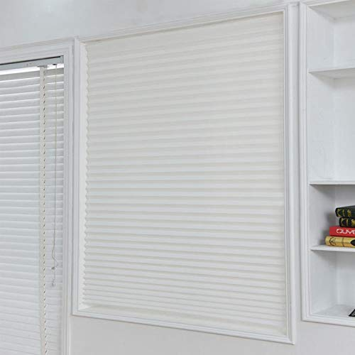 Buy Generic Self-Adhesive Pleated Blinds Half Blackout Windows ...