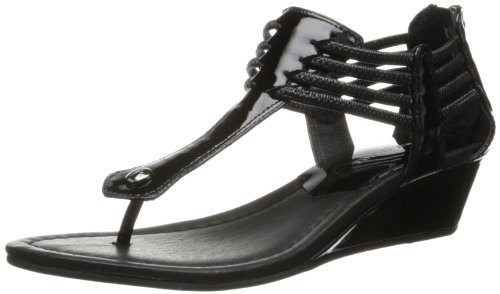 Donald J Pliner Dames Dyna2 Wedge Sandaal Zwart / Zwart Patent
