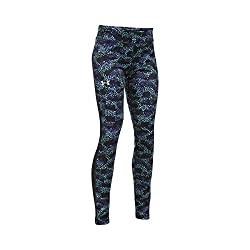 Under Armour Girls' Coldgear Armour Leggings, Blacksilver, Youth Large
